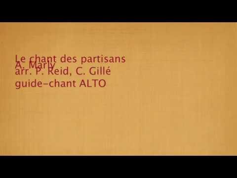 le chant des partisans , guide chant ALTO