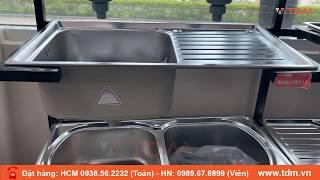 TDM.VN | Bồn rửa chén inox Sơn Hà S78D | S78 - giá chậu rửa chén inox 304 1 ngăn 1 bàn