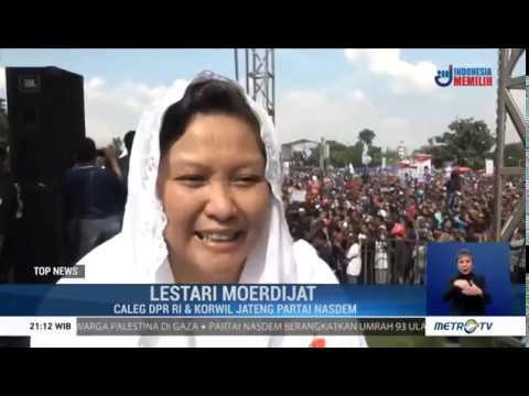 Kemeriahan Kampanye Akbar Partai NasDem di Jateng