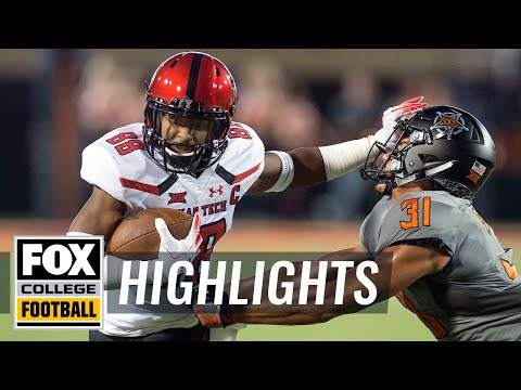 Oklahoma State vs. Texas Tech | FOX COLLEGE FOOTBALL HIGHLIGHTS