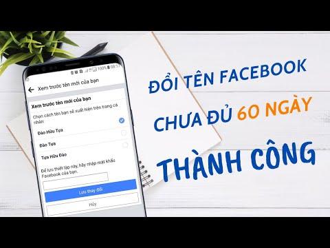 hack doi ten facebook khong can doi 60 ngay - Cách đổi tên Facebook trên điện thoại khi chưa đủ 60 ngày hoặc quá 5 lần   Đào Hữu Tựa