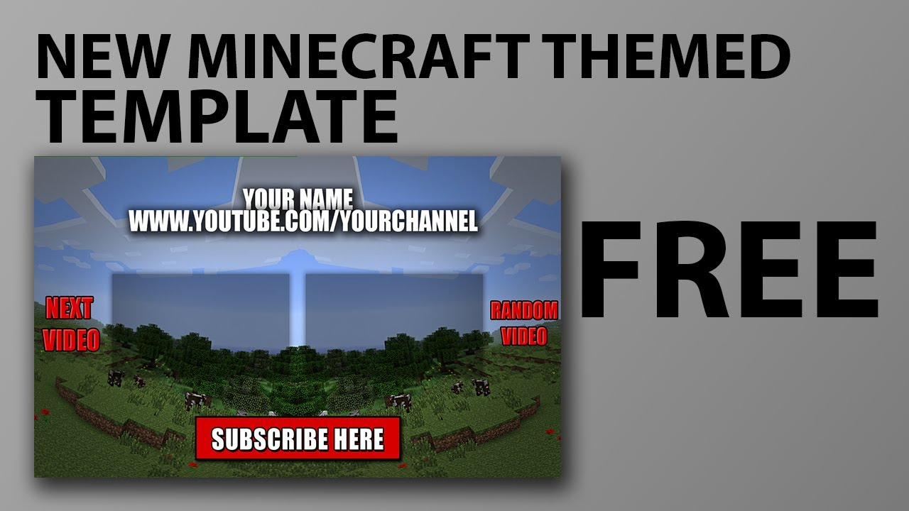 minecraft outro template movie maker - minecraft free outro template download link in