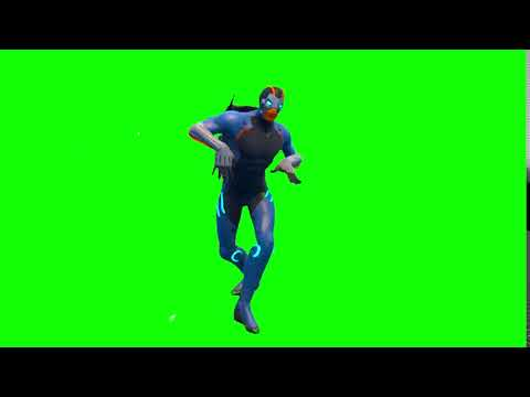 Fortnite Season 4 New Skin Green Screen Default Dance