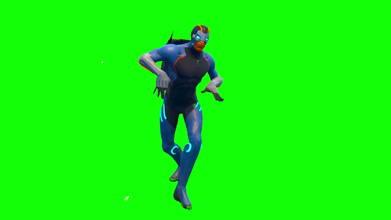 Fortnite Season 4 New Skin Green Screen Default Dance ...