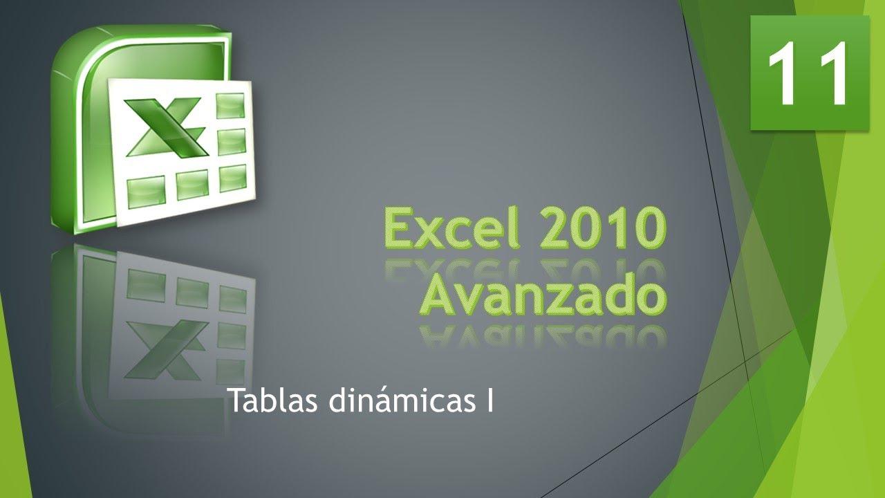 Excel Avanzado Bases De Datos 11 Tablas Dinamicas 1