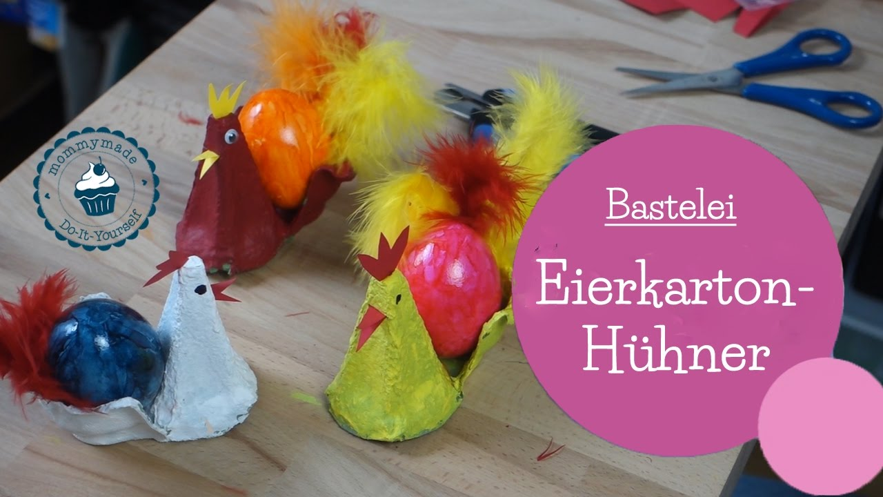 basteln f r ostern eierkarton h hner diy bastelanleitung egg carton easter craft. Black Bedroom Furniture Sets. Home Design Ideas