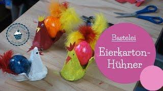 Basteln für Ostern | Eierkarton-Hühner | DIY Bastelanleitung | egg carton easter craft | mommymade