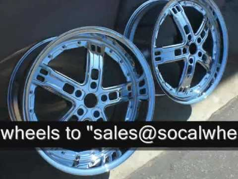 SoCal Wheel Rechrome Service 562 997 0111 -Before & After v1