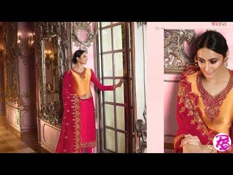 Fiona Norita Satin Georgette Indian Designer Salwar Kameez Wholesale Rehmat Boutique www rehmatbouti