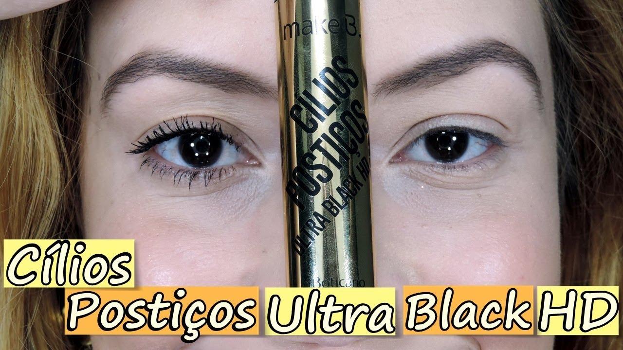 35b1b8027 RESENHA: CÍLIOS POSTIÇOS ULTRA BLACK HD | LAIANE LIRA - YouTube