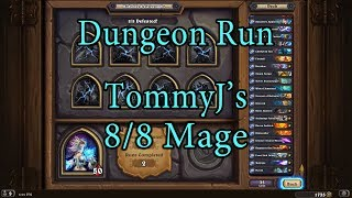 Hearthstone: Kobolds and Catacombs Mage 8/8 Dungeon Run