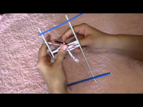 Уроки вязания на вилке видео