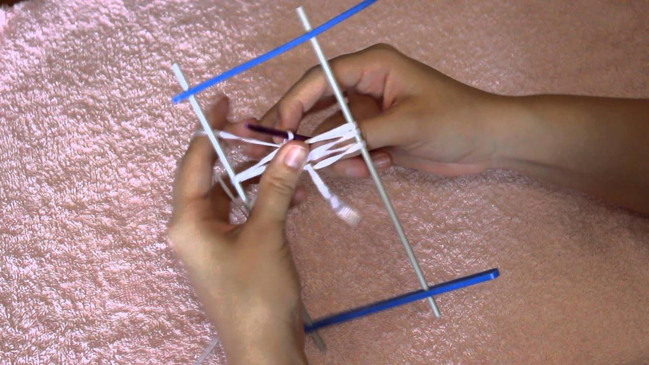 вязание на вилке урок 1
