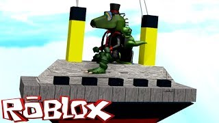 O minúsculo-tanic! (Titanic menor)-ROBLOX construir um barco para o tesouro