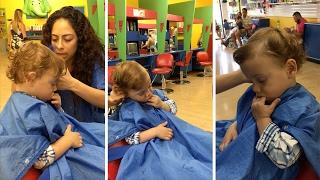 Kid Falls Asleep During Haircut