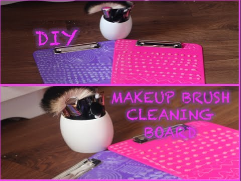 diy makeup brush cleaner mat. diy make up brush cleaning board: how to create a cleaner, easy and cheap - youtube diy makeup cleaner mat e