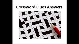 crossword clues answers