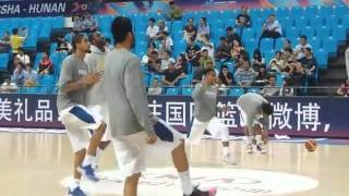 Andray Blatche joins warmups before Gilas game vs Iran