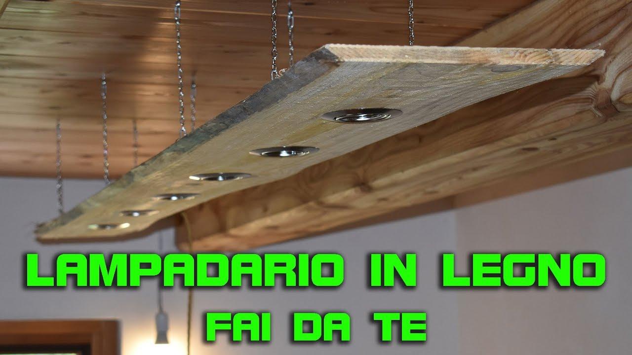 Faretti Da Incasso Legno lampadario in legno fai da te con faretti - lampadari di