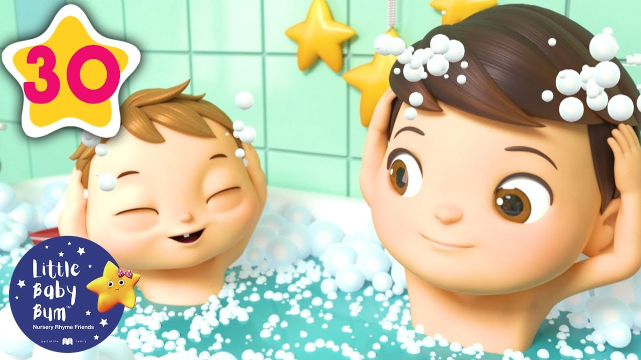 Bath Time Song | Kids Songs | Little Baby Bum | ABCs and 123s