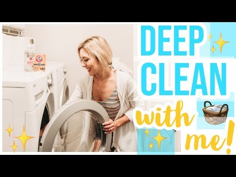 CLEAN WITH ME 2019! 🧺✨🧼 | HOW TO DEEP CLEAN YOUR WASHING MACHINE | Brianna K