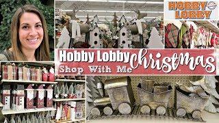 HOBBY LOBBY CHRISTMAS 2018 :: HOBBY LOBBY SHOP WITH ME FOR CHRISTMAS DECOR :: This Crazy Life