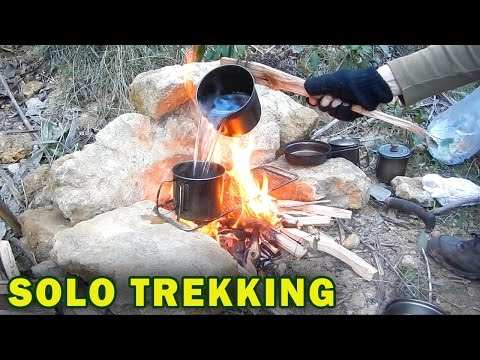 Solo Trekking Adventure, Cooking Lamb Steaks & Soup