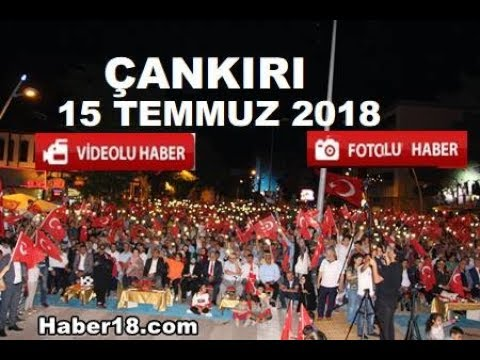 Çankırı da Vatandaşlar  15 Temmuz için toplandı