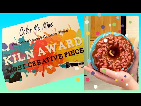 COLOR ME MINE Paint It Yourself Ceramic Donut Bank