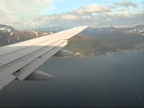 SAS Scandinavian Airlines SK4432 Oslo - Tromsø 737-700 Safety, Take-off, Go-around & Landing