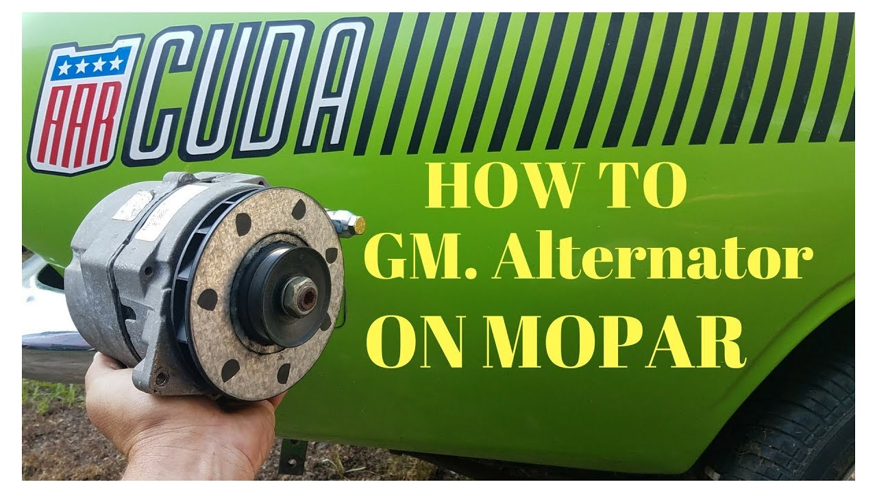 how to mount and wire gm alternator on mopar youtube. Black Bedroom Furniture Sets. Home Design Ideas