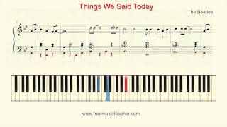 """How To Play Piano: The Beatles """"Things We Said Today"""" Piano Tutorial by Ramin Yousefi"""