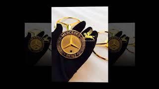 Logo ô tô - mạ vàng 24k - mạ vàng ô tô - logo mercedes