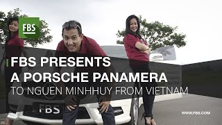 FBS presents a Porsche Panamera to Nguen Minh Huy from Vietnam