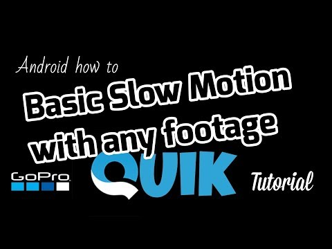 GoPro Quik App - How to do slow motion - Quik App Slo Mo