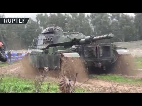 Convoy of Turkish tanks reaches Syrian border near Kilis