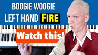 Boogie Woogie Piano, two left hand patterns, tricky but mighty