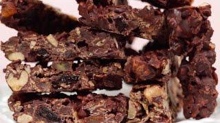 Chocolate Nut Bars (valentine's Day Recipe) チョコナッツバー(バレンタイン用レシピ)作り方