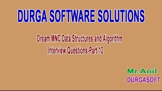 Dream MNC DS and Algorithm Interview Questions Part 12