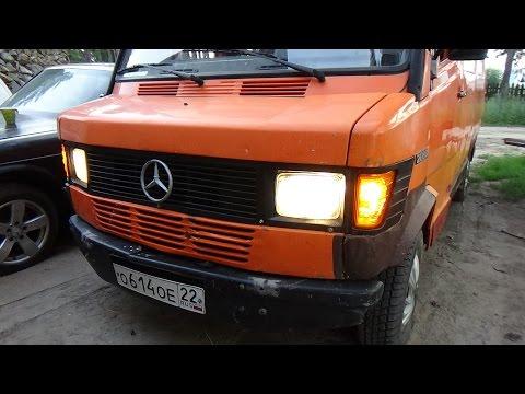 Мерседес 208 Д замена помпы,новые поворотники и стопы.
