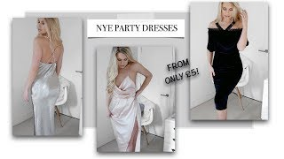 FESTIVE & NYE PARTY DRESS HAUL ON A BUDGET | FROM £5! MISSGUIDED BOOHOO PLT | Freya Farrington