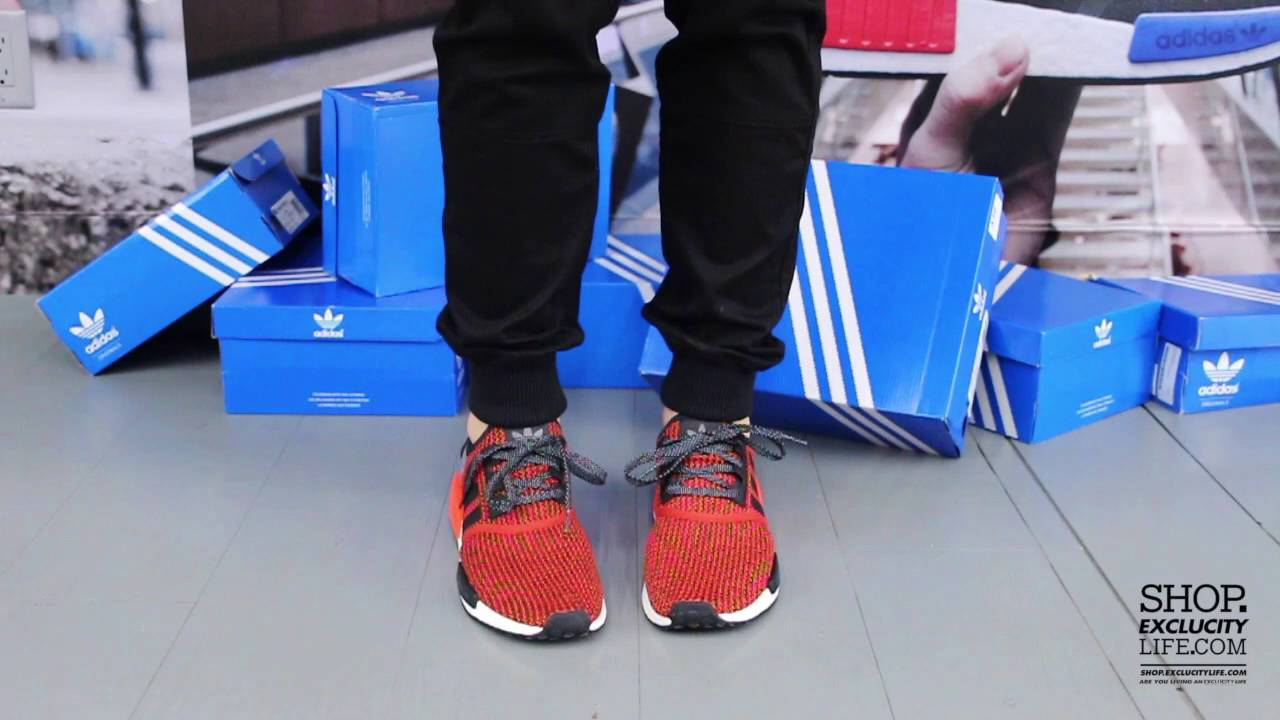huge selection of 37b83 28dab Adidas NMD Runner Orange - Black On feet Video at Exclucity - YouTube