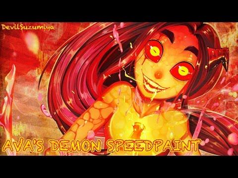 Ava's Demon Speedpaint - Angry Baby