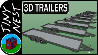 Tiny House Trailers In 3d Iron Eagle