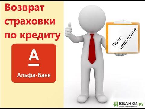 Альфа Банк: возврат страховки по кредиту