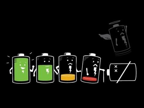 При зарядке – идет разряжение батареи