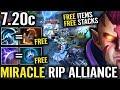 Liquid Free Buff TACTIC all focus Miracle AM | Dota 2 7.20 - Liquid vs Alliance