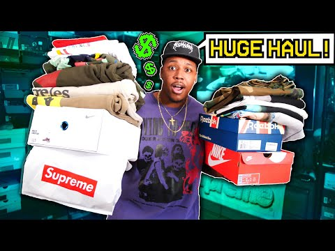 UNBOXING A TON OF DOPE SH*T! HUGE SNEAKER & CLOTHING HAUL Ft. 1 OF 1 NIKES, SUPREME, *ACW* & MORE!