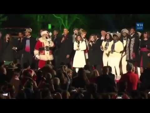 Barack Obama, Marc Anthony y Eva Longoria cantaron Jingle Bells