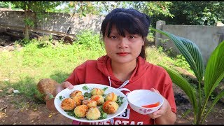 Cooking skills | fried quail eggs - primitive life | survival skills. HT